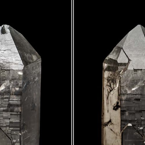 Quartz crystal 20 cm long, Switzerland. Federico Picciani photo