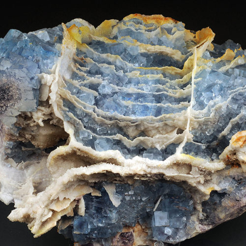 Fluorite with quartz, specimen originally 26 cm across, Le Beix, France. Private collection. Andrea Dini photo and digital rendering.