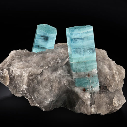 Aquamarine in quartz, Silvana Pegmatite, Codera Valley (SO), Italy. Federico Picciani photo