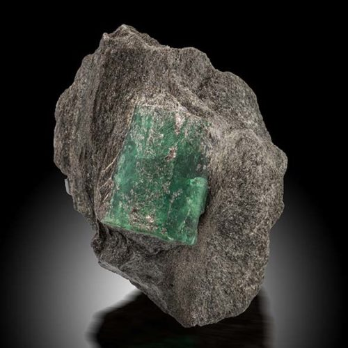 Emerald crystal 5 cm long in matrix, Ekaterinburg, Urals Region, Russia. Federico Picciani photo