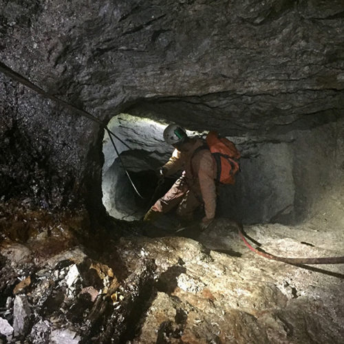 Explorations in old ore mines in Tuscany (Italy). Marco Lorenzoni photos