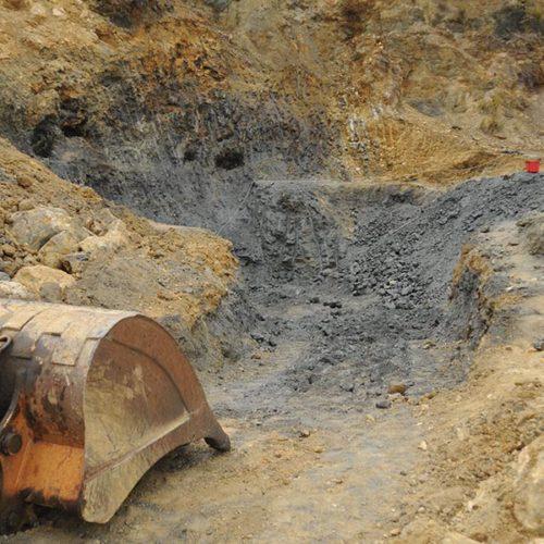 Pyrite and hematite specimens mining in Parco Minerario dell'Isola d'Elba, Rio Marina, Elba island, Italy. Marco Lorenzoni photos