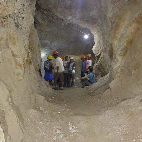 Underground mining in a gem-bearing tourmaline pegmatite in Central Madagascar. Daniel Trinchillo photo